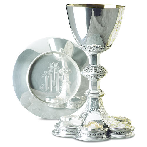Calice patena Molina Gesù Maria Giuseppe coppa argento 925 1