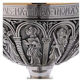 Calice e patena Molina stile romanico coppa argento 925 s4