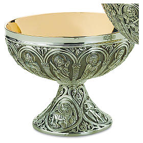 Patena offertoriale Molina stile romanico argento 925 s1