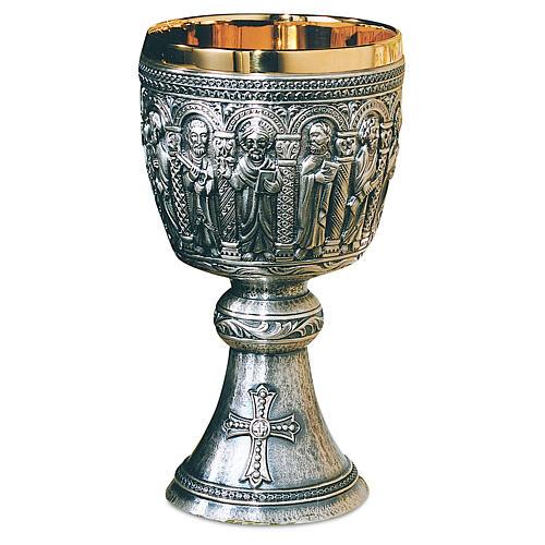 Calice patena Molina stile romanico argento 925 1