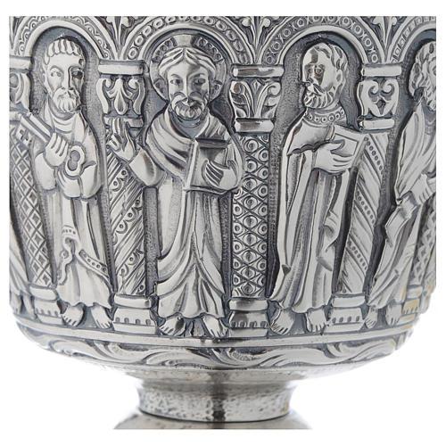 Calice patena Molina stile romanico ottone 6