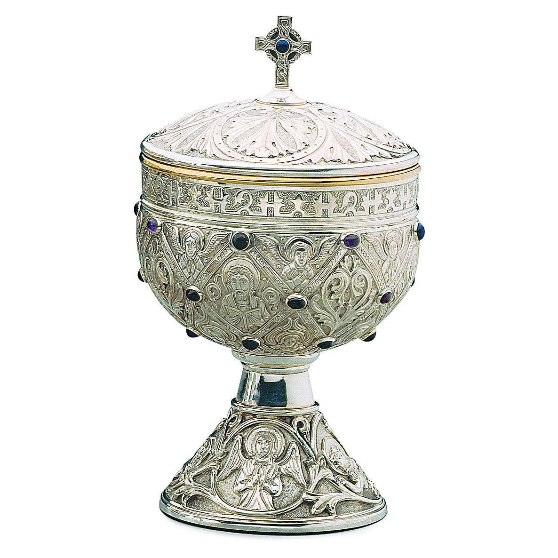 Pisside Molina romanica Apostoli coppa argento 925 4