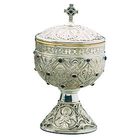 Pisside Molina romanica Apostoli coppa argento 925 s1