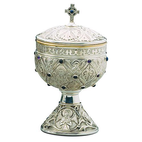 Pisside Molina romanica Apostoli coppa argento 925 1