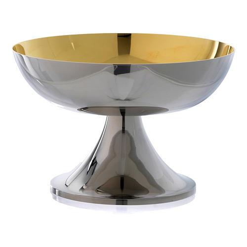 Patena Molina ottone argentato interno dorato 1