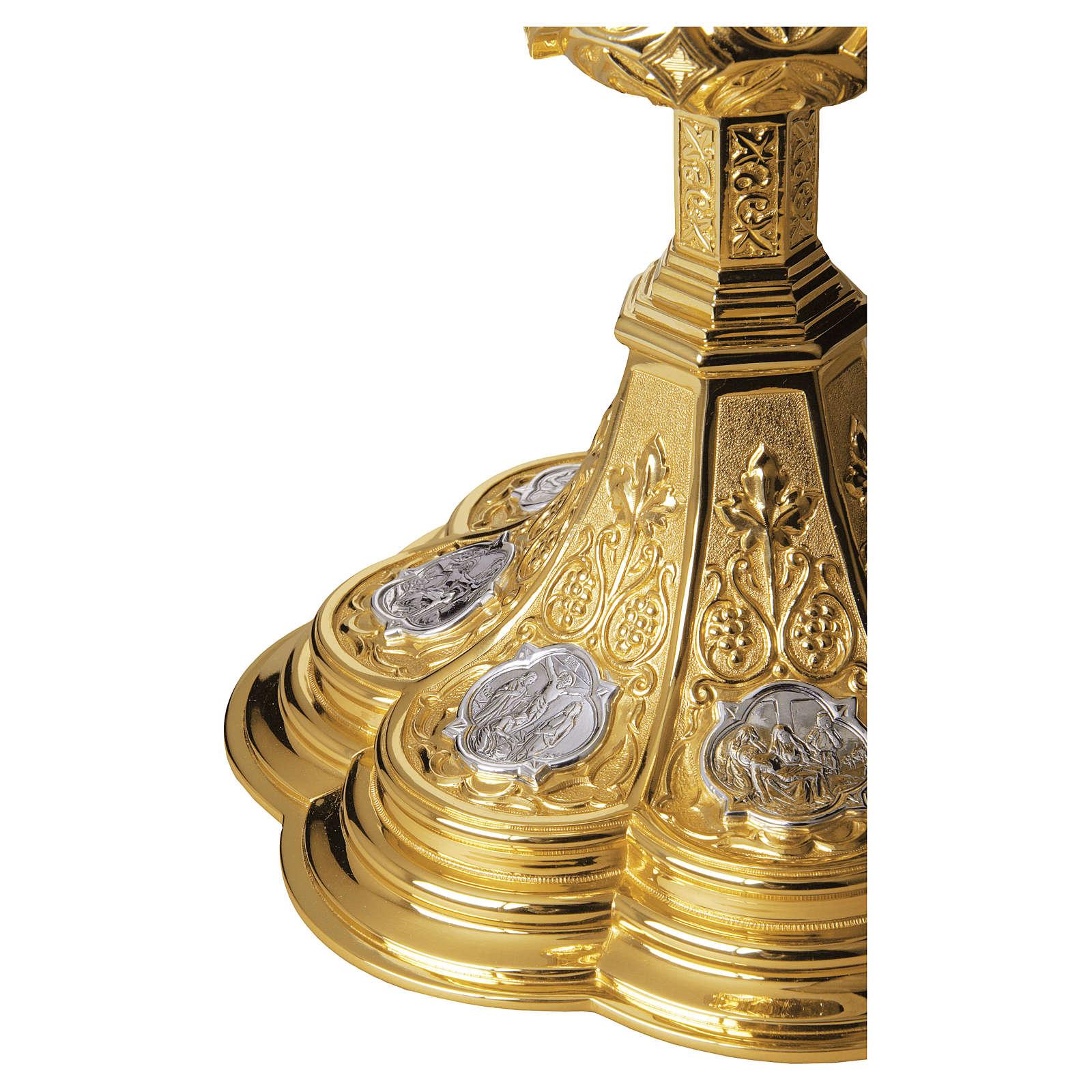 Calice e Patena Molina Via Crucis coppa argento 925 dorato 4