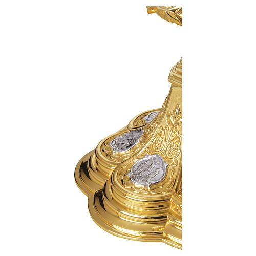 Calice e Patena Molina Via Crucis argento massiccio 925 dorato 3