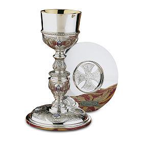 Calice Patena e Pisside Platereschi Molina cabochon argento massiccio 925 s1