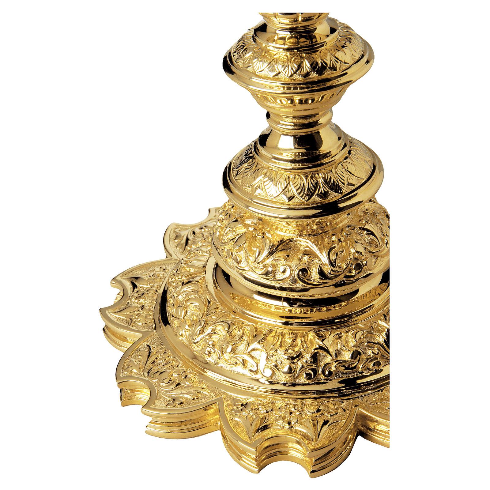 Calice e Patena Molina Barocco stella argento 925 dorato 4