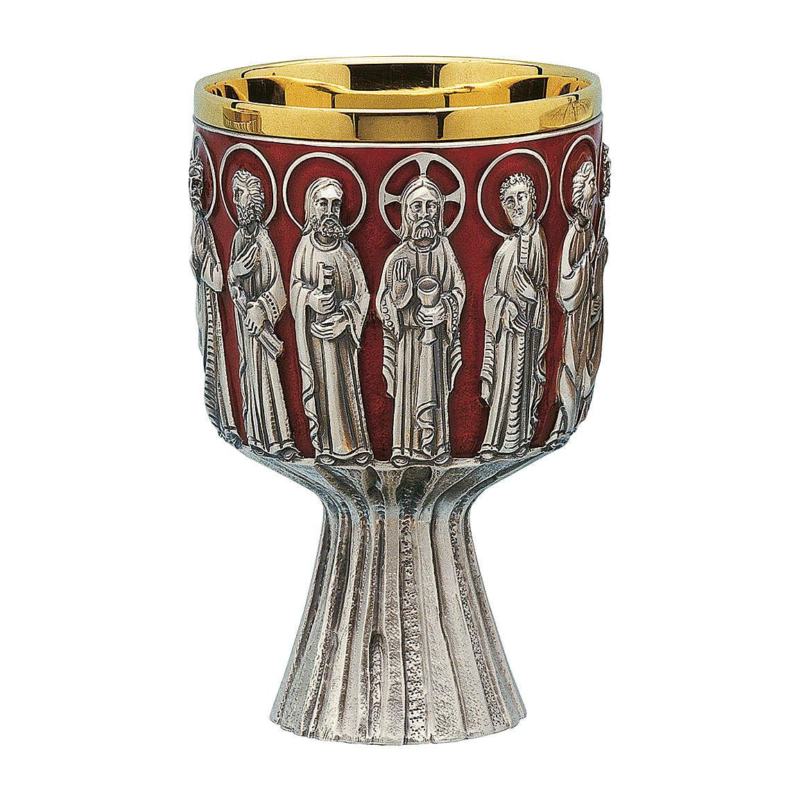Calice Pisside e Patene Contemporanei Molina Ultima Cena coppa argento 925 4