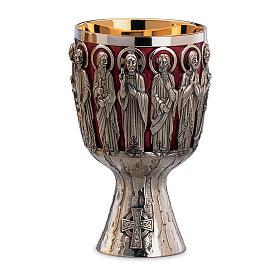 Calice e Patena Molina Contemporanei Cristo e Apostoli argento massiccio 925