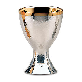 Chalice and paten Molina with shiny finish in 925 solid sterling silver s1