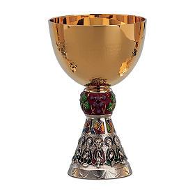 Calice e Patena Molina Contemporanei Ultima Cena uva e viti arg massiccio 925 bicolore s1