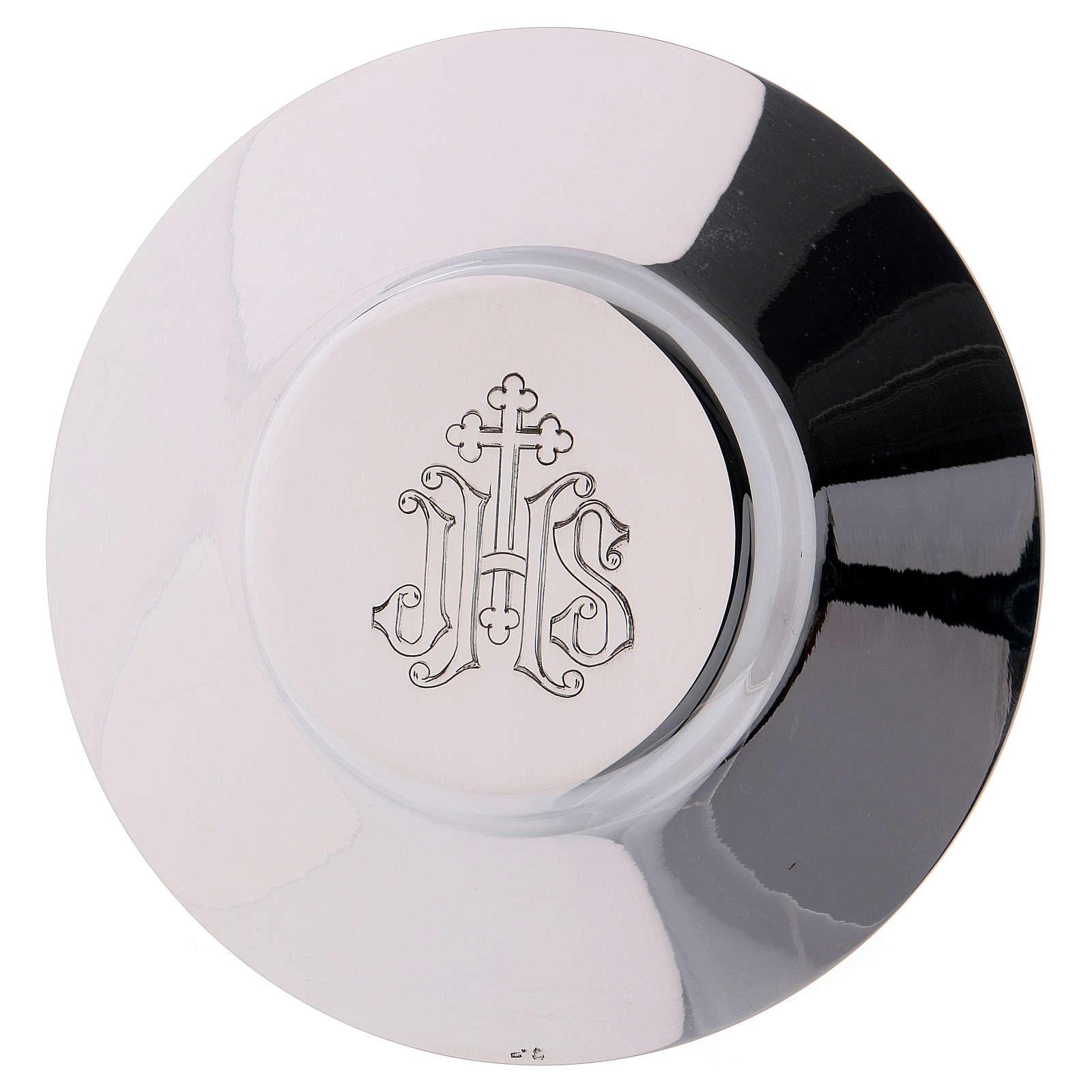 Calice patène ciboire Molina décoration gotique médailles argent 925 massif 4