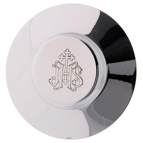 Calice Patene Pisside Molina decorazione gotica medaglioni argento massiccio 925 5