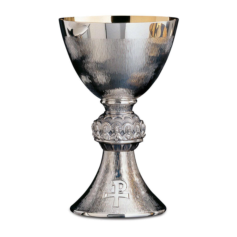 Calice Patena e Pisside Molina Ultima Cena argento massiccio 925 4