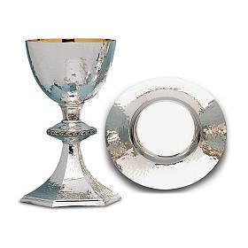 Calice Patena e Pisside Molina argento leggermente martellati in ottone s1