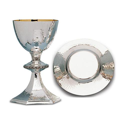 Calice Patena e Pisside Molina argento leggermente martellati argento massiccio 925 1