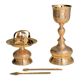 Byzantine set Molina Tassilo with Creator and Evangelists in two tone brass s1