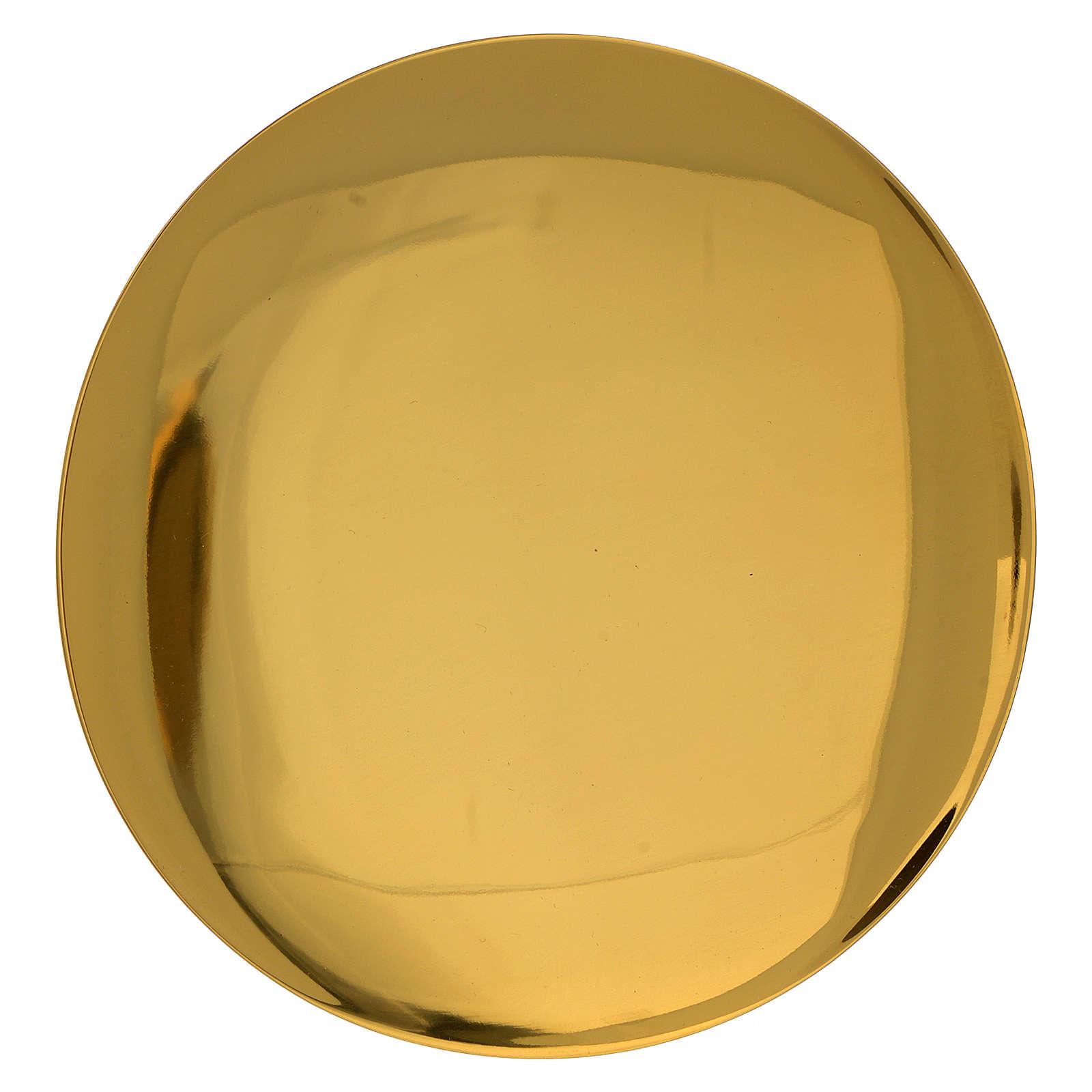 Patena incisa dorato liscia JHS incisa diam. 15 cm 3