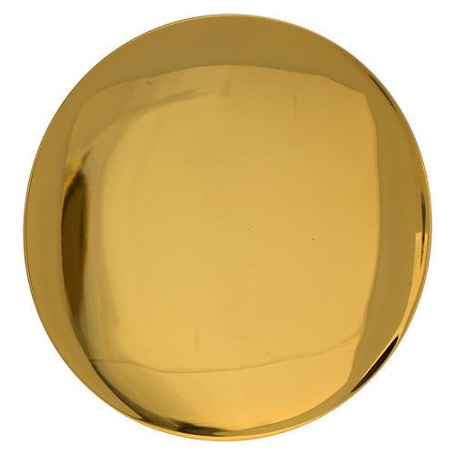 Patena incisa dorato liscia JHS incisa diam. 15 cm 1