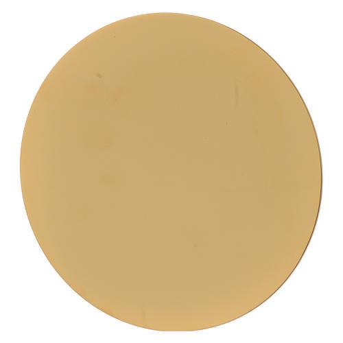 Calice avec patène Sainte Famille laiton doré 4