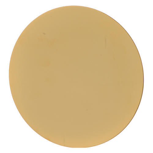 Calice con Patena Sacra Famiglia ottone dorato  4