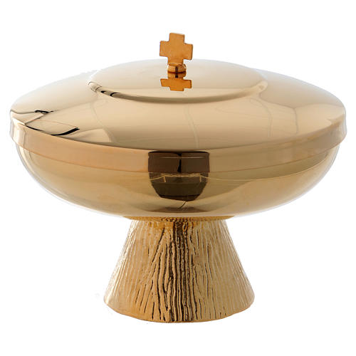 Communion bowl with cover gold-plated brass 4 inches 1