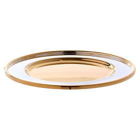 Paten Sant'Eusebio model in brass, diameter 18 cm s2