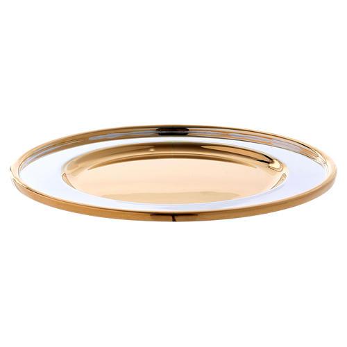Paten Sant'Eusebio model in brass, diameter 18 cm 2