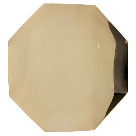 Octagonal paten in brass 8 in diameter s1