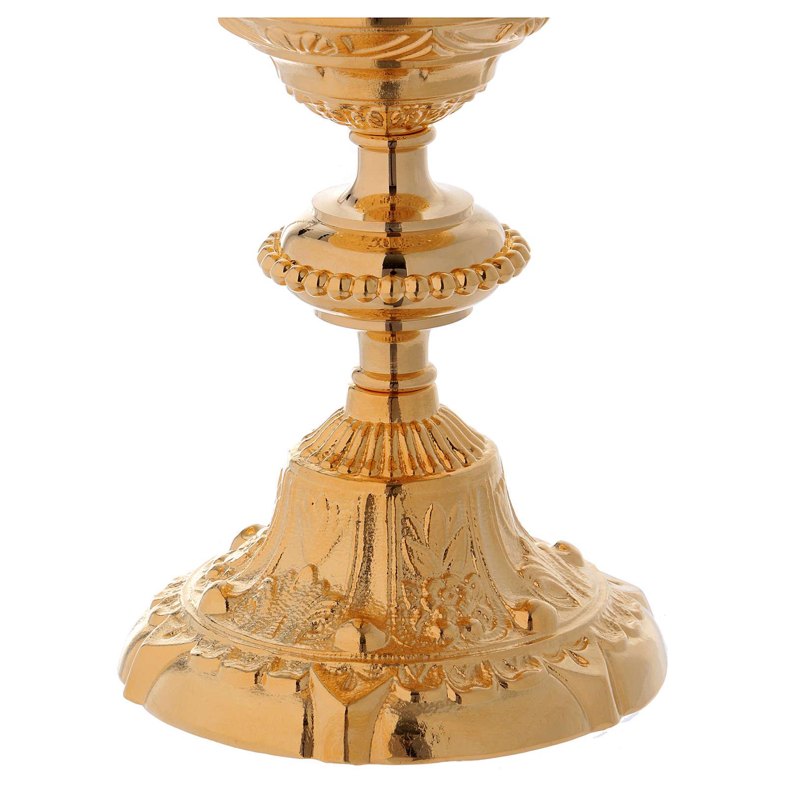 Baroque style ciborium cast brass 10 inches 4