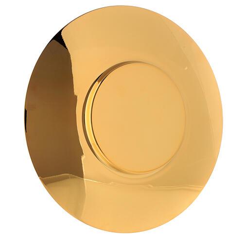 Paten in brass diam. 20 cm, classic style 2