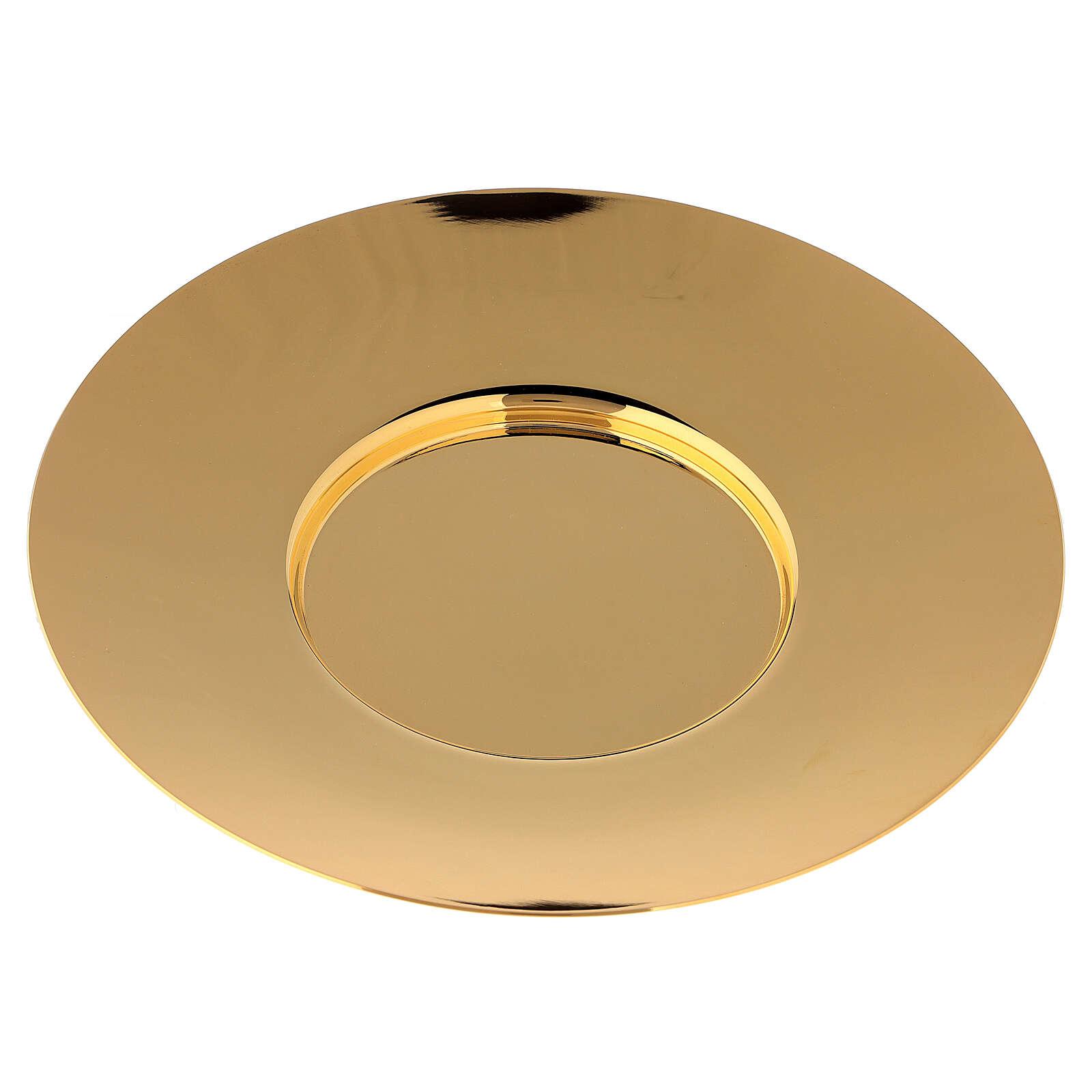 Patena clásica latón dorado diám 20 cm 4