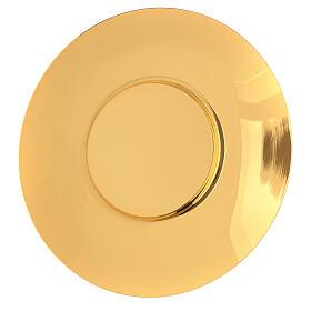 Patena clásica latón dorado diám 20 cm s1