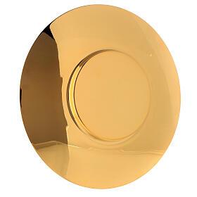 Patena clásica latón dorado diám 20 cm s2