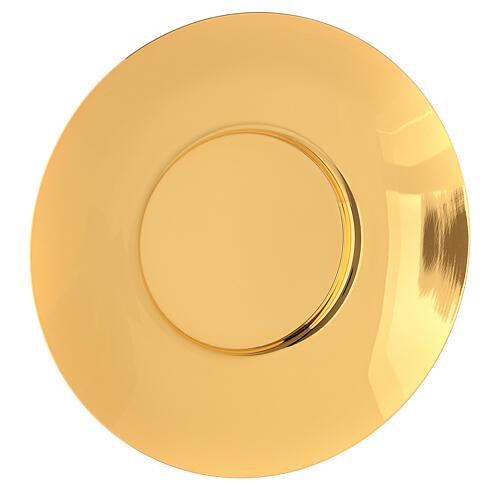 Patena clásica latón dorado diám 20 cm 1