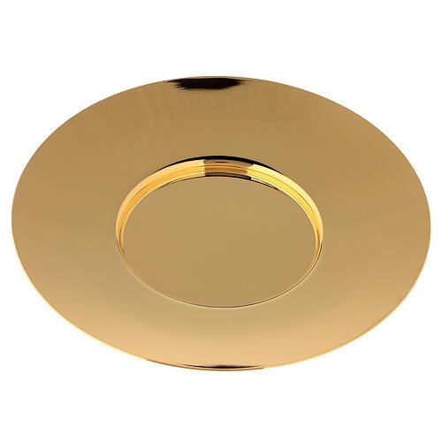 Patena clásica latón dorado diám 20 cm 3
