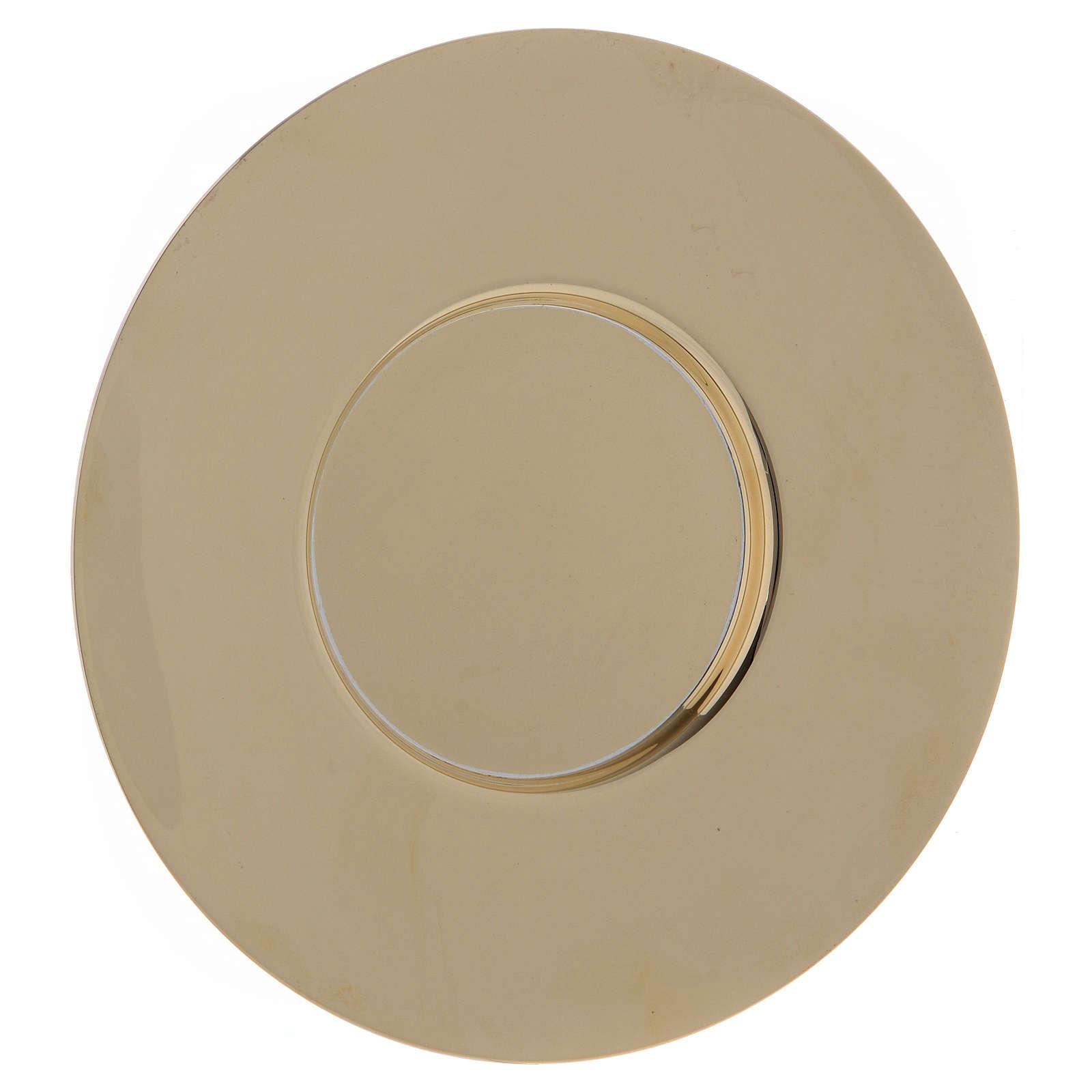 Patène classique laiton doré diam. 20 cm 4