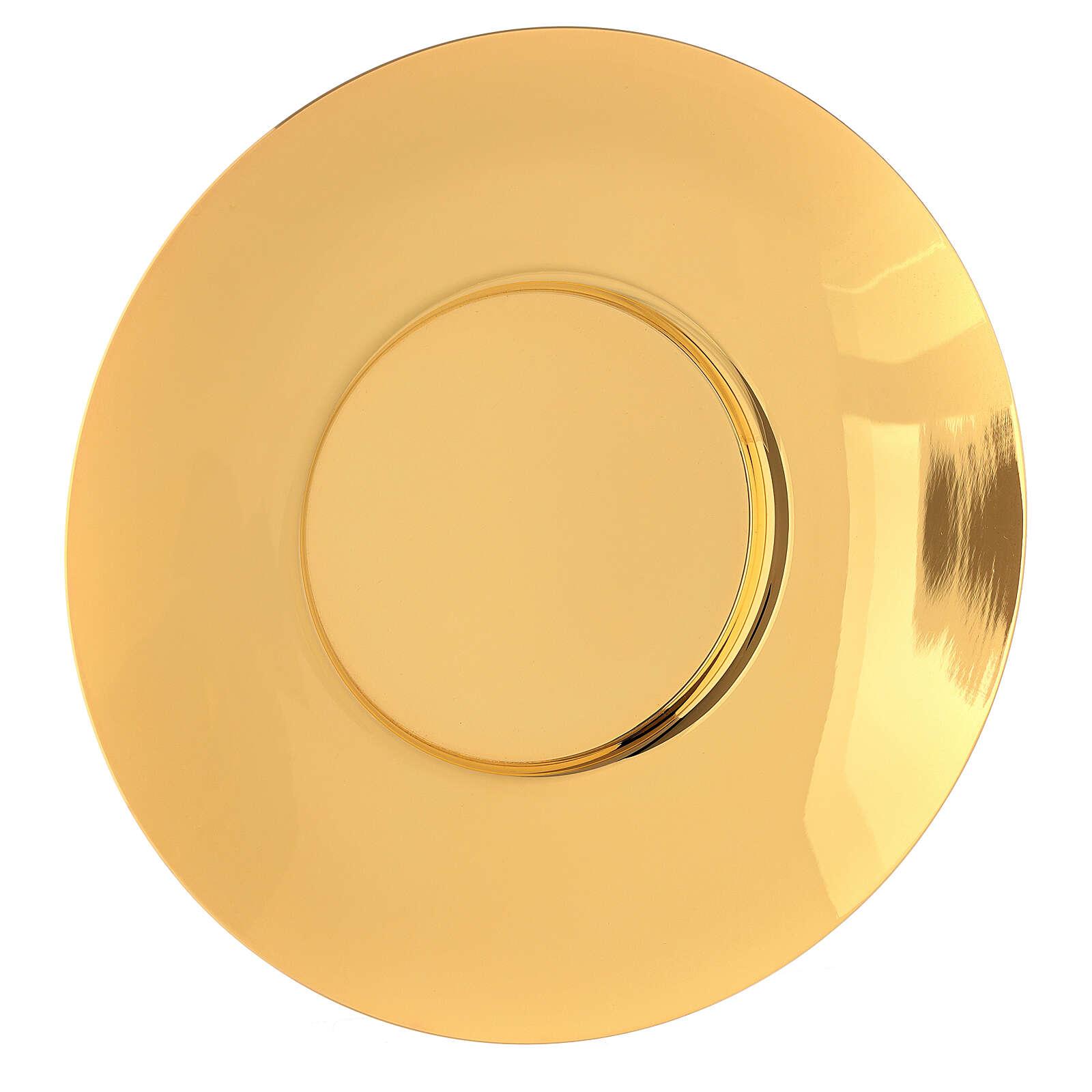 Patena classica ottone dorato diam 20 cm 4