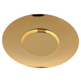 Patena classica ottone dorato diam 20 cm s3