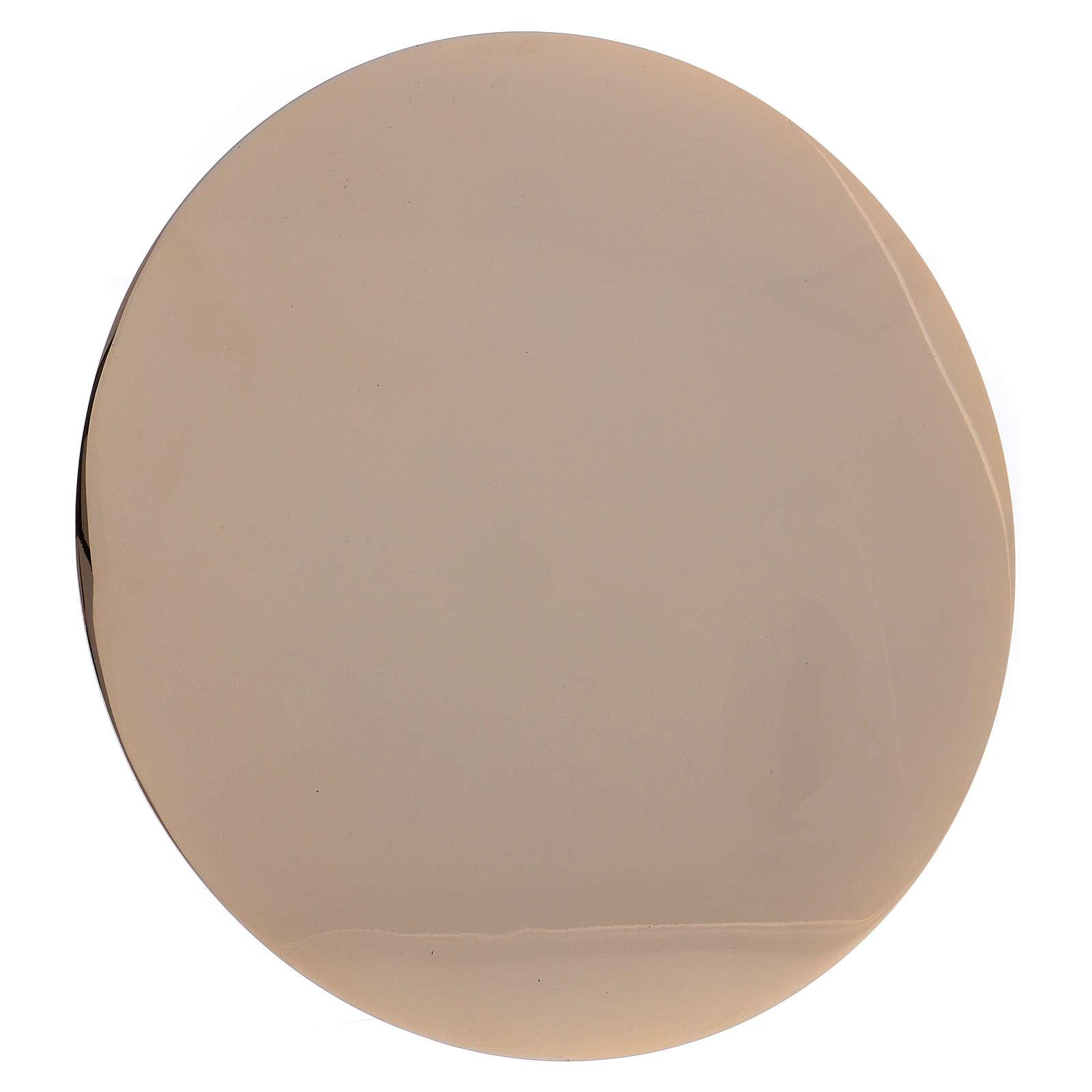 IHS paten in golden brass diam. 14 cm 4