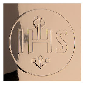 Patène IHS laiton doré diam. 14 cm s2