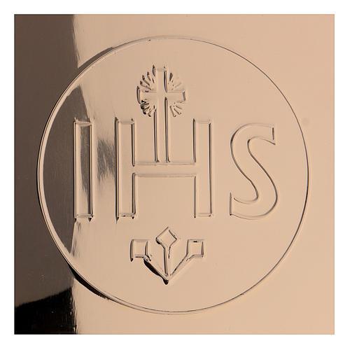 Patène IHS laiton doré diam. 14 cm 2
