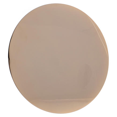 Patena IHS ottone dorato d. 14 cm 4