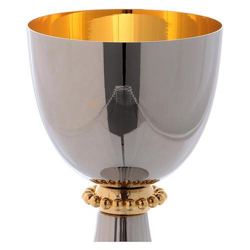Calice et ciboire Saint Germain laiton argenté intérieur doré 3