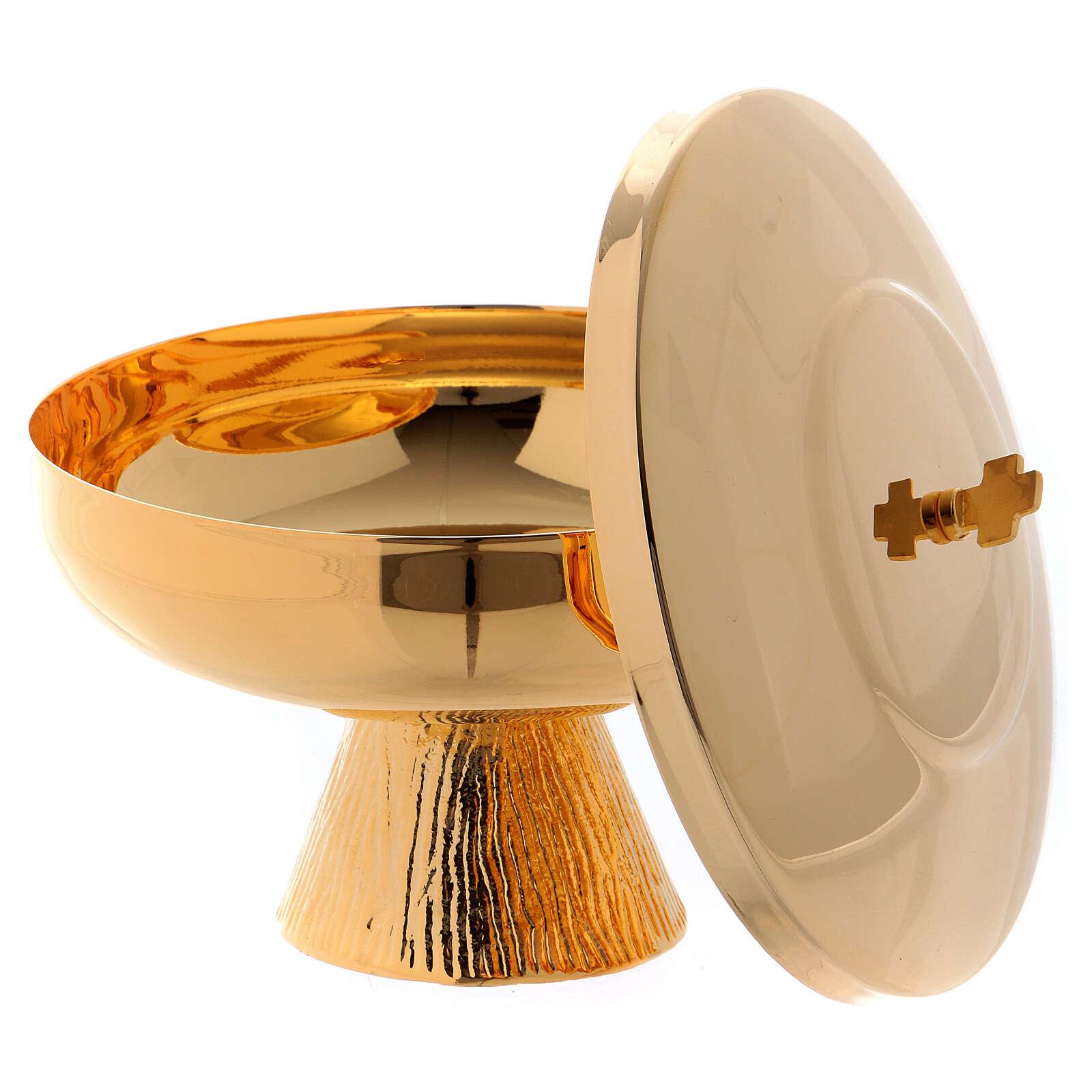 Short ciborium in golden brass 4
