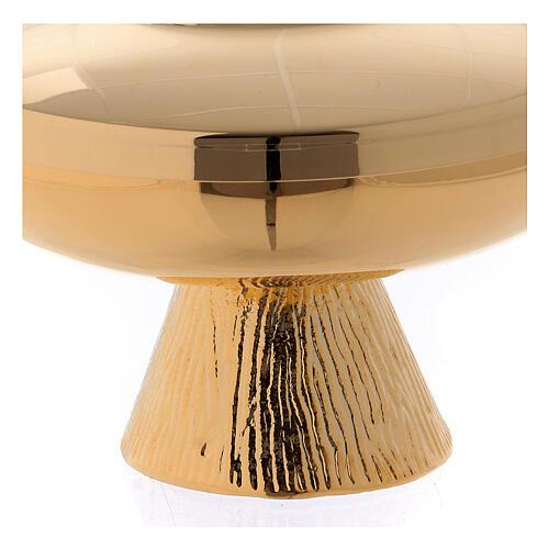 Short ciborium in golden brass 2
