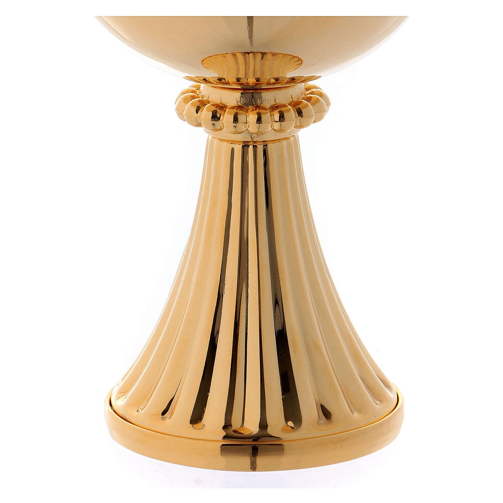 Calice e Pisside San Germano ottone dorato 4