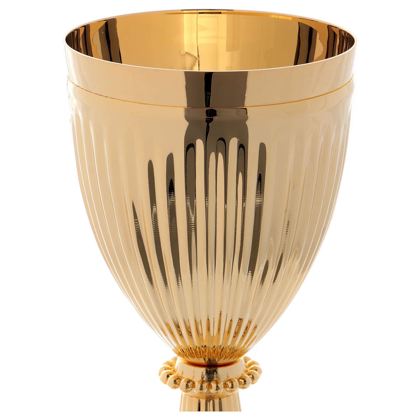 Calice et ciboire style Empire entièrement dorés 4
